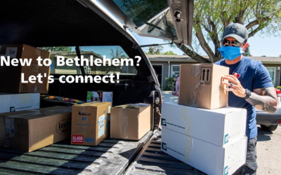 April 8: New to Bethlehem? Let's gather virtually!