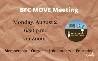 Monday, August 2: MOVE Meeting