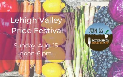 Sunday, Aug. 15: Lehigh Valley Pride