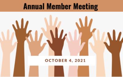 Oct. 4: Annual Member Meeting