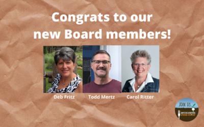 New Board members elected