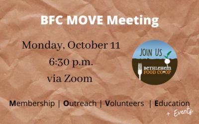 Monday, Oct . 11: MOVE Meeting
